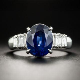 Estate 3.71 Ct. Sapphire Platinum Diamond Ring - 1