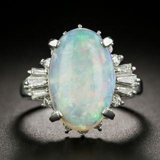 Estate 3.81 Carat Opal and Diamond Ring - 3