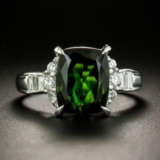 Estate 3.98 Carat Green Tourmaline and Diamond Ring - 3