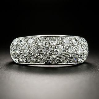 Estate 3 Row Diamond Dome Ring - 3