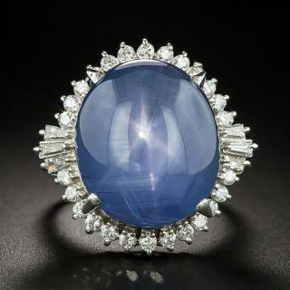 Estate 31.85 Carat Star Sapphire and Diamond Cocktail Ring - 1