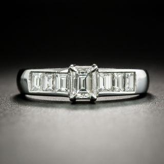 Estate .34 Carat Rectangular-Cut Diamond Engagement Ring - 2