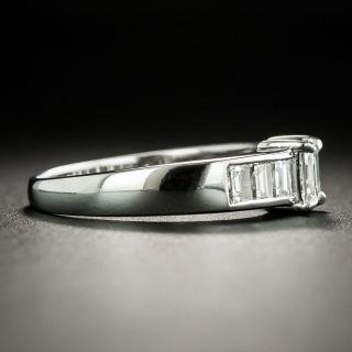 Estate .34 Carat Rectangular-Cut Diamond Engagement Ring