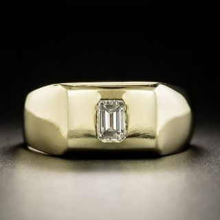 Estate .35 Carat Emerald-Cut Diamond Ring - 3