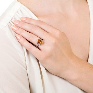 Estate 4.15 Carat Topaz and Diamond Ring