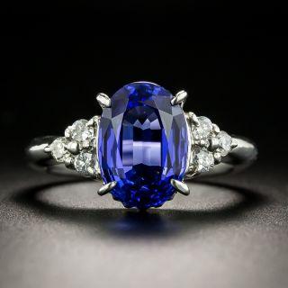 Estate 4.61 Carat Tanzanite and Diamond Ring - 2