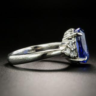 Estate 4.61 Carat Tanzanite and Diamond Ring