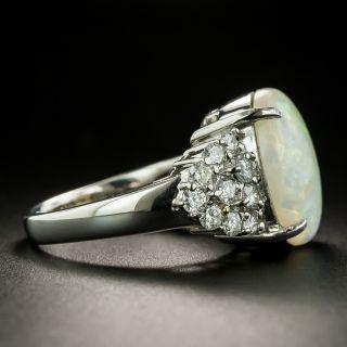 Estate 4.71 Carat Opal Cabochon and Diamond Ring