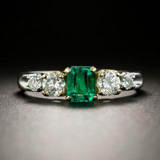 Estate .43 Carat Emerald and Diamond Ring - 3