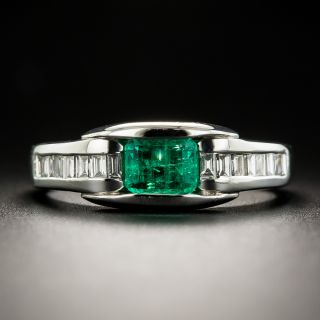 Estate .43 Carat Emerald and Diamond Ring - 1
