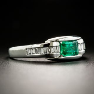 Estate .43 Carat Emerald and Diamond Ring