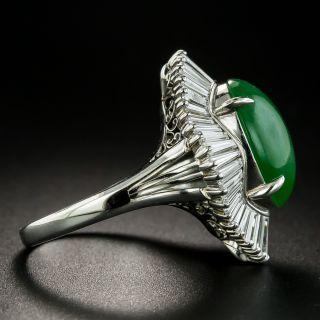 Estate 5.33 Carat Burmese Jade and Diamond Ballerina Ring