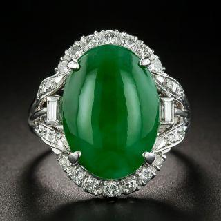 Estate 5.50 Carat Burmese Jade and Diamond Ring - 1