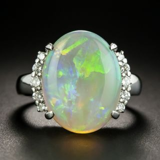 Estate 5.58 Carat Opal and Diamond Ring - 2