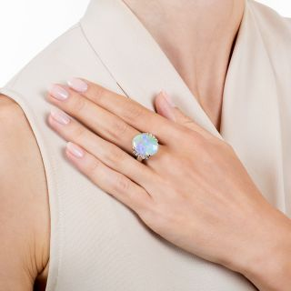 Estate 5.58 Carat Opal and Diamond Ring