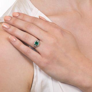 Estate .50 Carat Emerald and Baguette Diamond Ring