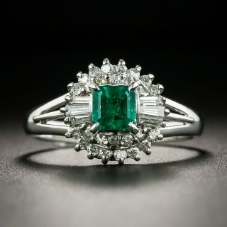 Estate .51 Carat Emerald and Diamond Ring - 1