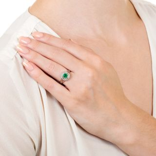 Estate .51 Carat Emerald and Diamond Ring