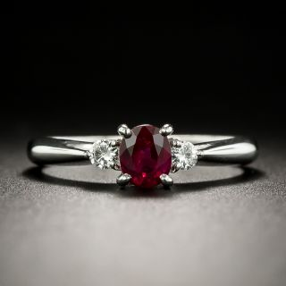 Estate .52 Carat Ruby and Diamond Ring - 3