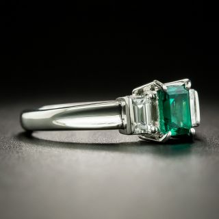 Estate .55 Carat Emerald and Diamond Ring
