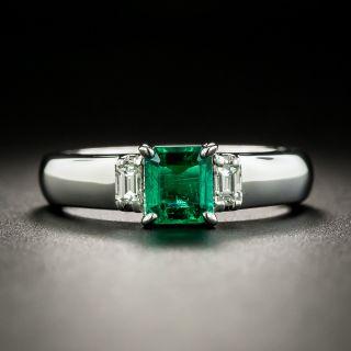 Estate .56 Carat Emerald and Diamond Ring - 1