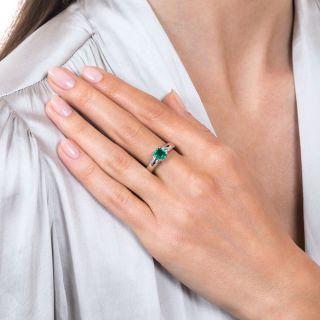 Estate .56 Carat Emerald and Diamond Ring