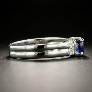Estate .57 Carat Sapphire and Baguette Diamond Ring