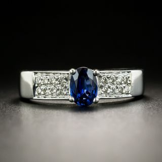Estate .58 Carat Sapphire and Diamond Ring - 2