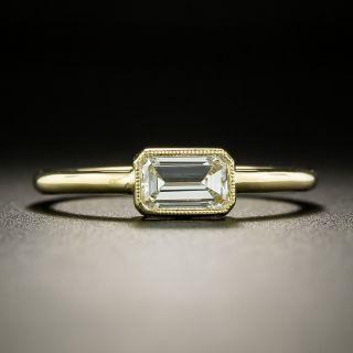 Estate .59  Carat Emerald Cut Diamond Solitaire Ring - 3