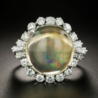 Estate 6.45 Carat Mexican Opal and Diamond Ring - 2