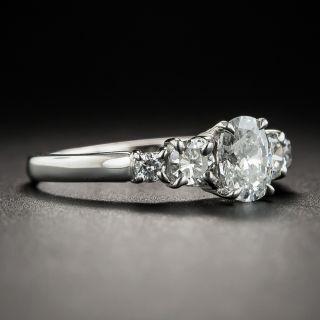 Estate .60 Carat Oval Diamond Platinum Engagement Ring