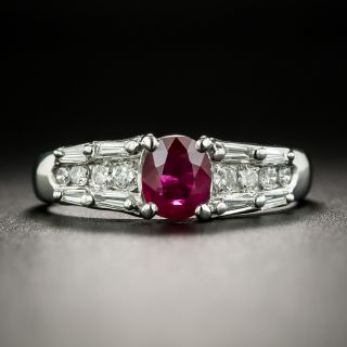 Estate .60 Carat Ruby and Diamond Ring - 2