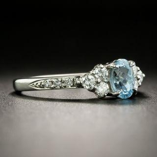 Estate .61 Carat Aquamarine and Diamond Ring