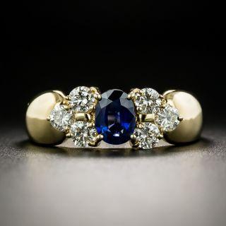 Estate .61 Carat Sapphire Diamond Ring - 2