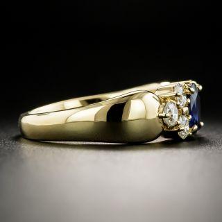 Estate .61 Carat Sapphire Diamond Ring