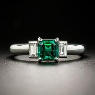 Estate .62 Carat Emerald and Diamond Ring - 1