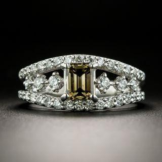 Estate .68 Carat Natural Yellowish Brown Diamond Ring - 2