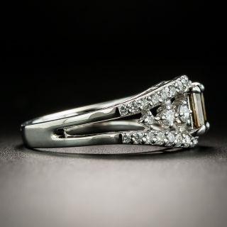 Estate .68 Carat Natural Yellowish Brown Diamond Ring