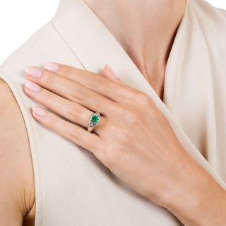 Estate .73 Carat Emerald Diamond Ring