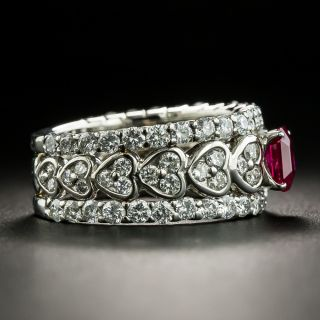 Estate .73 Carat Ruby and Diamond Band Ring