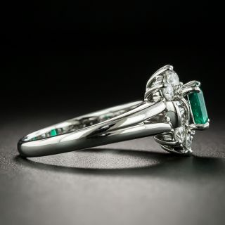Estate .74 Carat Emerald and Diamond Ring