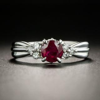 Estate .75 Carat Ruby and Diamond Ring - 2