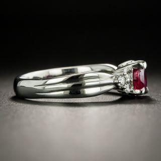 Estate .75 Carat Ruby and Diamond Ring