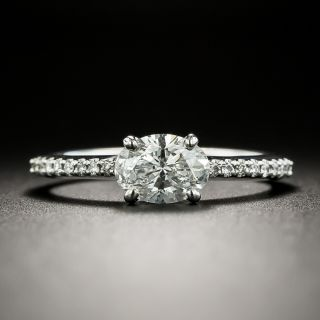 Estate .76 Oval-Cut Diamond Engagement Ring - GIA D SI1 - 2