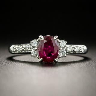 Estate .79 Carat Ruby and Diamond Ring - 2