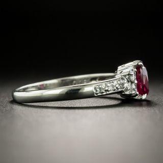 Estate .79 Carat Ruby and Diamond Ring