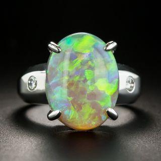 Estate 8.00 Carat Opal and Diamond Ring - 1