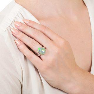 Estate 8.00 Carat Opal and Diamond Ring