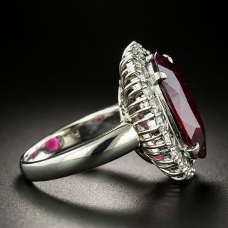 Estate 8.08 Carat Rubellite and Diamond Ring
