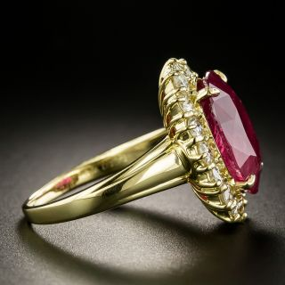Estate 8.39 Carat Ruby and Diamond Ring - GIA